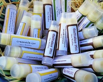 5 Lip Balm Assortment - Natural Lip Balm- Lip Balm-Shower Favors-Gifts for Him-Gifts for Her-Gifts for Teens-Teacher Gifts-Nurse Gifts