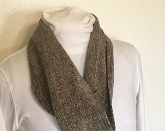 Handwoven Rayon Chenille Infinity Circle scarf - soft & warm Hand woven Circle infinity scarf