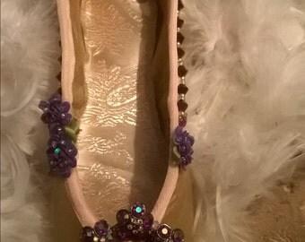 Waltz of the Flowers - Decorated Pointe Shoe - OAK