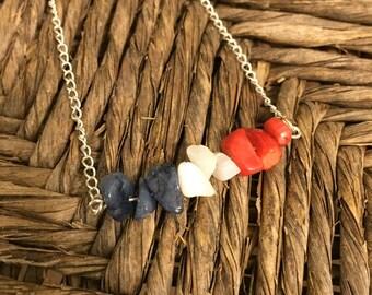 Patriotic Three Color Necklace