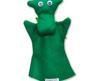 Hand Puppet for Children Cute Felt Dragon Puppet pet - puppet pet - Darren the Dragon