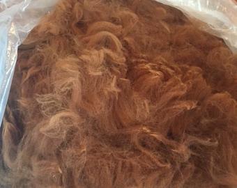 Clean Soft Dark Fawn/Light Brown alpaca blanket fiber (2.5lbs. available)