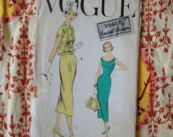 1950s Vogue 4762 bust 32 dress and jacket blouse