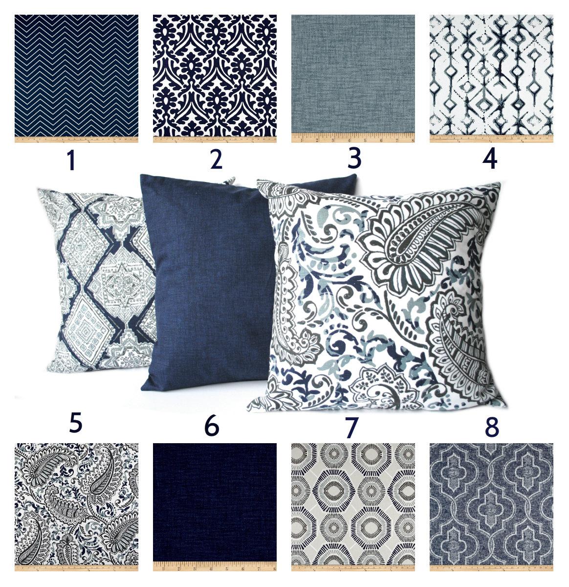 indigo blue navy gray white pillow throw pillow pillow home. Black Bedroom Furniture Sets. Home Design Ideas
