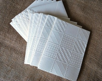 Handmade greeting cards: Quilt card, quilter card, embossed quilts