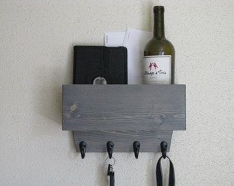 Key Holder for Wall  Mail and Key holder for Wall Shown in Gray