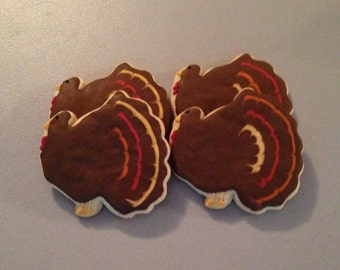 One dozen Turkey Sugar Cookies
