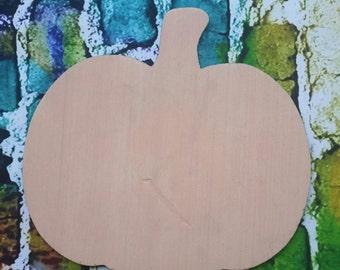 PUMPKIN SHORT Wooden Cutout Unfinished - Wooden Blanks, Wooden Shapes, Wooden Wreath Shapes, Wooden Door Hangers, Shape Blanks