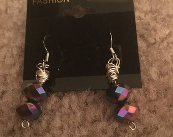 Multi colored bead earrings
