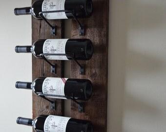 Barn Wood Wine Rack made from reclaimed wood, 6 bottle wine rack