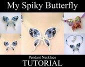 Jewelry TUTORIAL - My Spiky Butterfly - Intermediate Level Wire Wrapping PDF Instructions - Metalwork, Wirework, Pendant, Spike Technique