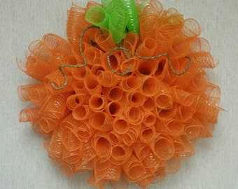 Curly Pumpkin Wreath