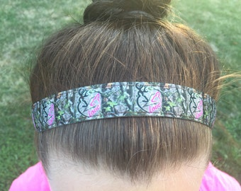 Womens Camo Headband Adult Outdoorsy Gifts - Deer Headband Hunting Gifts for Girls - Choice Size & Pattern- Deer Hunter Head Bands for Women