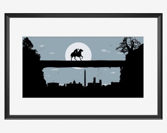 Washington skyline, Washington art, Washington print, Sleepy Hollow, Sleepy Hollow art, Sleepy Hollow print, Sleepy Hollow poster, nursery