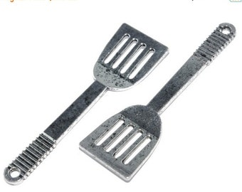 ON SALE Kitchen Utensil Charm- Spatula- Set of 2 -176-