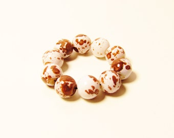 D-00976 - 10 Glass beads 8mm Brown