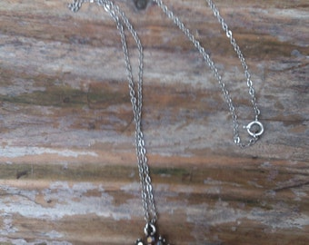 Vintage glass pendant and chain
