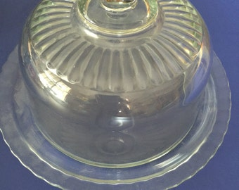Clear glass cake container sweets cupcake made in france