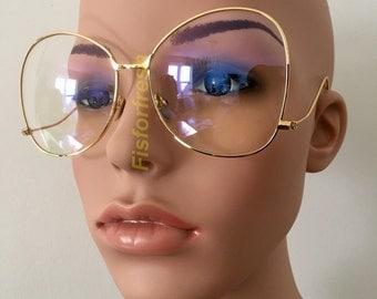 Rimless Hipster Glasses : 90s Choker Transparent Big O Ring GOLD Shape Choker by ...