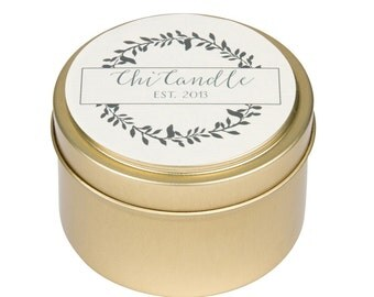 Soy Candle 6 oz Travel tin Scented Soy Candle. Handmade. Hand Poured.