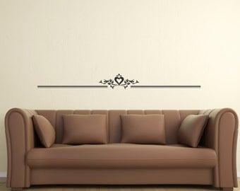 Scroll Embellishment 3 ... Vinyl Wall Decal Art Deco