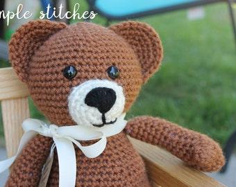 Cuddly Teddy Bear - Handmade Teddy Bear - Classic Brown Bear Toy