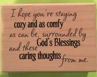 Cozy and Comfy / Verses Rubber Stamps