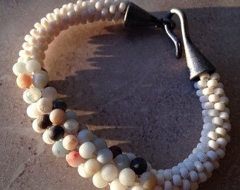 Serene Summer Kumihimo Bracelet