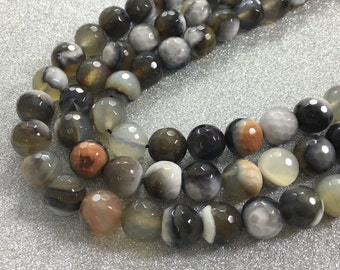 One Full Strand 10mm   Natural Agate Stone Beads , Agate Beads , Agate Stone Beads , Gemstone Beads ,Stone Beads , Wholesale Beads