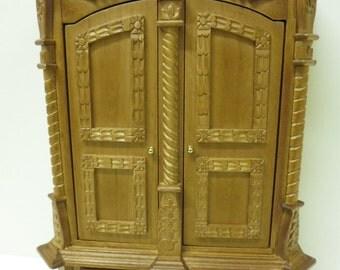 Dolls House Furniture Carved Walnut Cupboard 99519W Top Quality