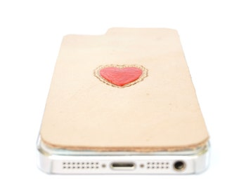 Leather iPhone SE Case / iPhone 5s Case - Heart