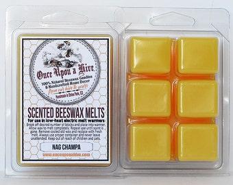 Nag Champa Beeswax Melts | 3 oz. | Natural | Melt-Warmers | Wax Melts | Scented