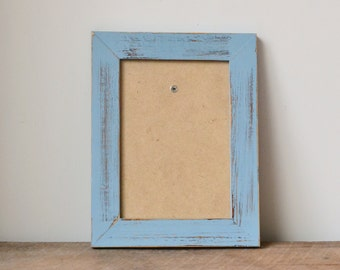 Shabby Chic Coastal Blue Distressed Photo Frame - 7x5 inches
