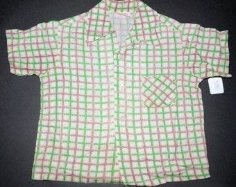 1950s Boys Atomic Print Shirt Vintage Retro Kids