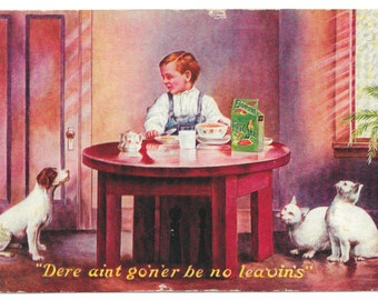 No Leftovers Egg-O-See Cereal Trade Card, 1907