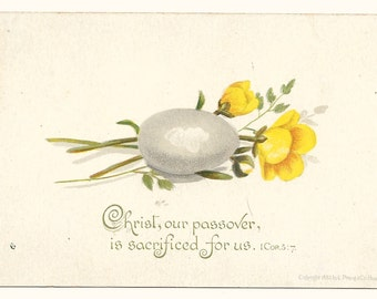 Mini Prang Victorian Easter Card, 1883