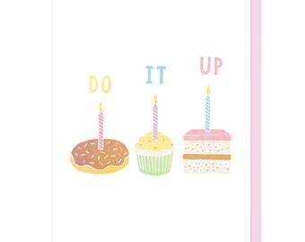 Do It Up Birthday Letterpress Card