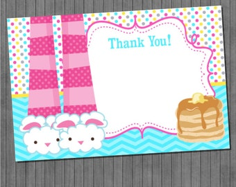 ON SALE!!  Pancakes and PJ's Thank You Cards