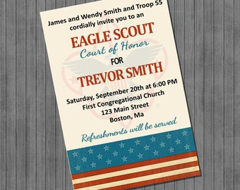 Eagle Scout Invitations - Court of Honor