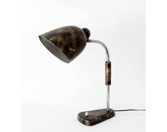 Vintage lamp // 30's 40's Distressed Bauhaus Desk Lamp // Vintage Industrial Loft