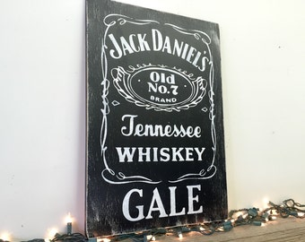 Personalized Jack Daniels Wall Hanging