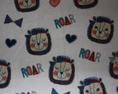 Fitted Pack n Play Sheet - Flannel - Lions ROAR