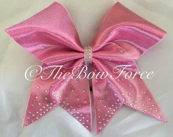 Crystal Bling Pink Cheer Bow
