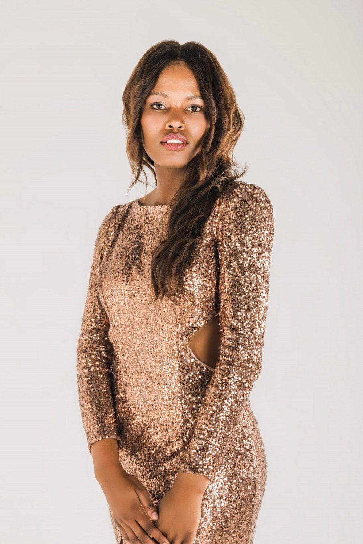 Gold sequin dress   Etsy