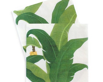 Tropical Leaf Luau Dinner Napkins (Set of 20)