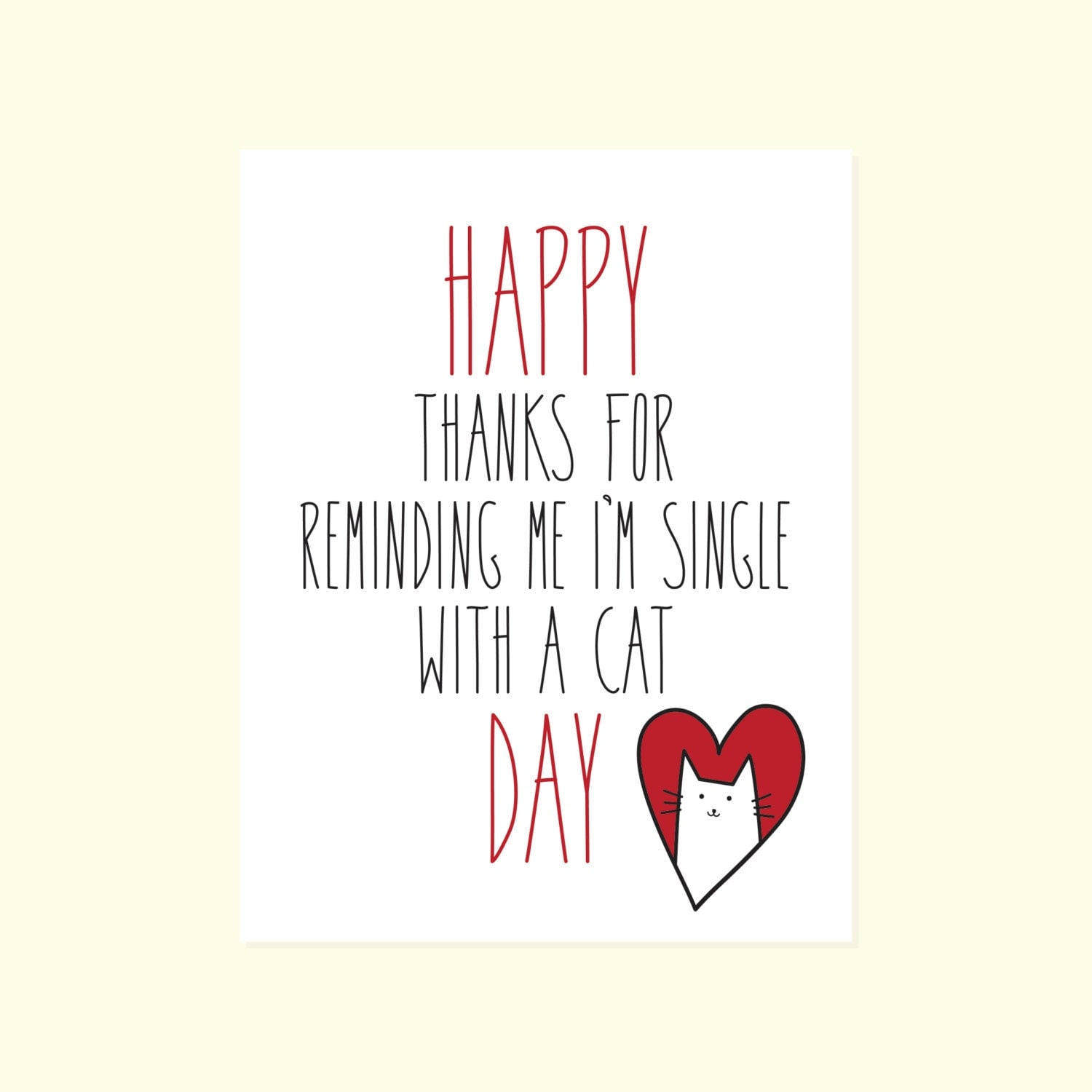 AntiValentines Day Card Funny Friend Valentines Card Happy – Friend Valentines Card