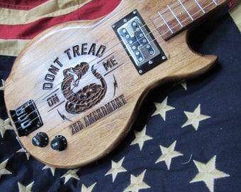 2nd Ammendment 3 string guitar.