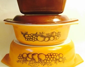 Pyrex Old Orchard Dishes