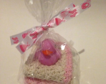 Crochet Washcloths ~Girl~ Baby Shower