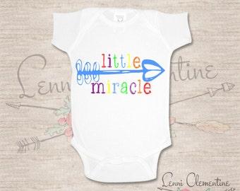 Little Miracle Bodysuit - Rainbow Baby Bodysuit - Miracle Baby - Pregnancy  After Loss - Miracle Baby Clothes - Rainbow Baby Clothes